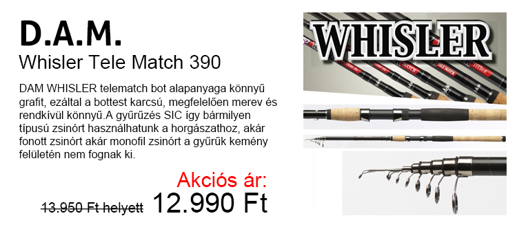 DAM Whisler Tele Match 390 Akciós ár: 12.990 Ft