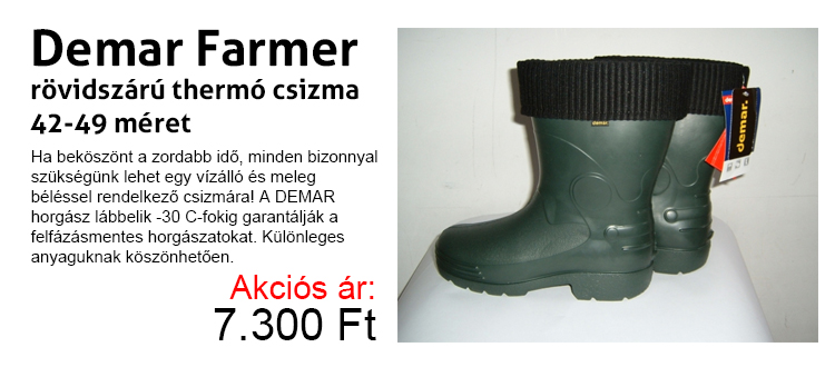 Demar Farmer rövidszárú thermo csizma 42-49-ig