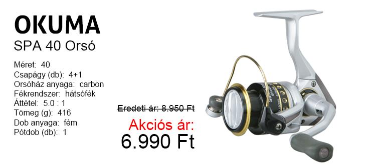 Okuma SPA 40 orsó 8.950 helyet 6.990 Ft