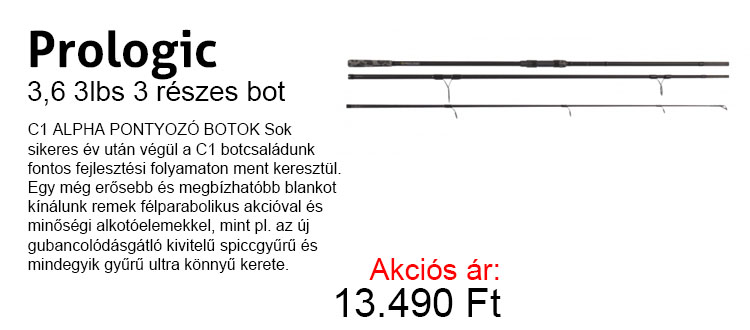 Prologic 3,6 3lbs 3 részes bot most 13.490 Ft