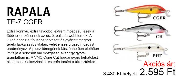 Rapala TE-7 CGFR Akciós ár: 2.595 Ft