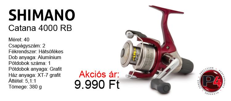 Shimano Catana 4000 RB hátsófékes orsó akciós 9.990 Ft-os áron!
