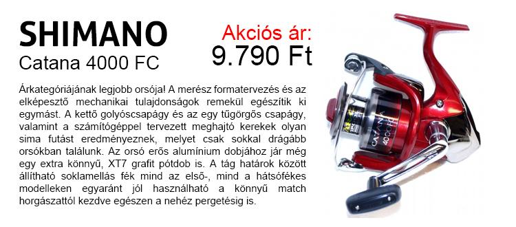 Shimano Catana 4000 FC pergetőorsó akció 9.790 Ft