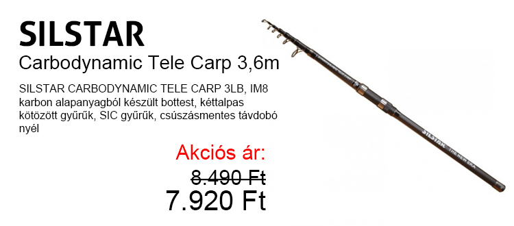 Silstar Carbodynamic Tele Carp 3,6m most csak 7.920 Ft