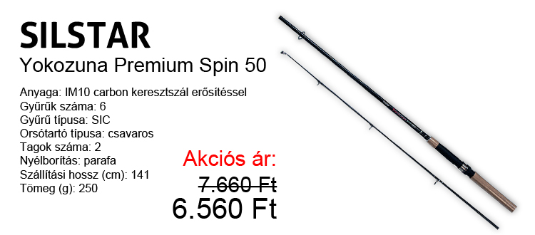 Silstar Yokozuna Premium Spin 50 akció! Ár: 6.560 Ft